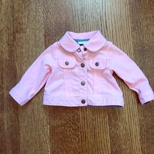 Baby girl First Impressions pink denim jacket